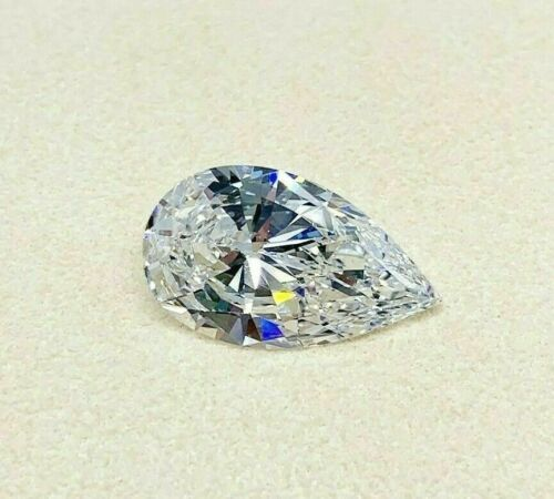 Loose GIA Diamond 5.03 Carats GIA F Color VS2 Pear Shape Diamond 17.06 x 10 MM