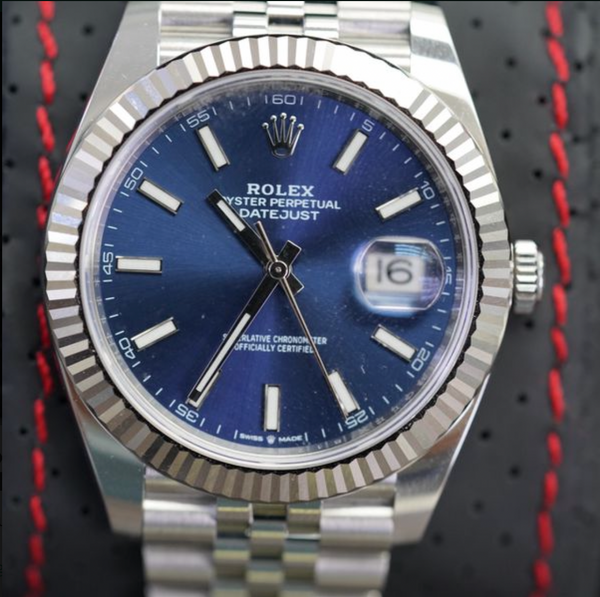 Rolex DateJust II Fluted Bezel and Blue Dial 36 MM R#126334