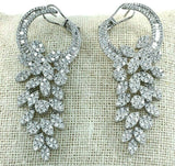 5.81 Carats t.w. Diamond Chandelier Dangle Earrings 18K Gold 2.10 Inch Drop