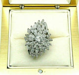4.20 Carats t.w. Marquise & Round Diamond Anniversary/Cocktail Ring 14K Gold