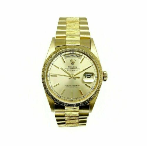 Rolex Day Date President Watch 18 Karat Yellow Gold 36MM Ref # 18248 A Serial 99