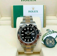 Rolex 40MM Ceramic GMT Master II Rootbeer 18K Stainless Steel Watch Ref 126711