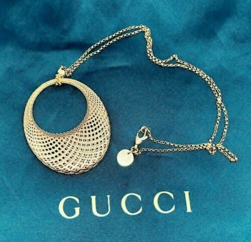 GUCCI Italian Made 18K Diamantissima Pendant with 18K Rose Gold GUCCI Chain