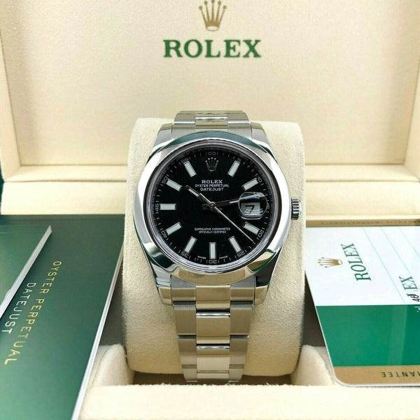 Rolex Datejust II 41mm Watch Stainless Steel Oyster Smooth Bezel Ref # 116300