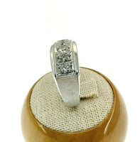 0.98 Carat t.w. Mens Diamond Brushed and High Polished Ring 14K Gold 11.8 Grams