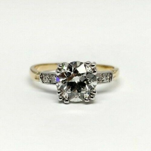 2.07Ct. Old European G SI1 EGL-USA Original Antique Diamond Engagement Ring