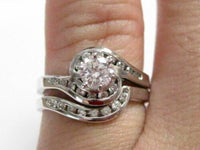 .60 TCW Round Diamond Ring Bridal Wedding Set G SI1 Size 7.5 14k White Gold