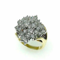 Stunning 5.00 Carats H VS Round Cut Diamond Anniversary Ring 14K Two Tone Gold