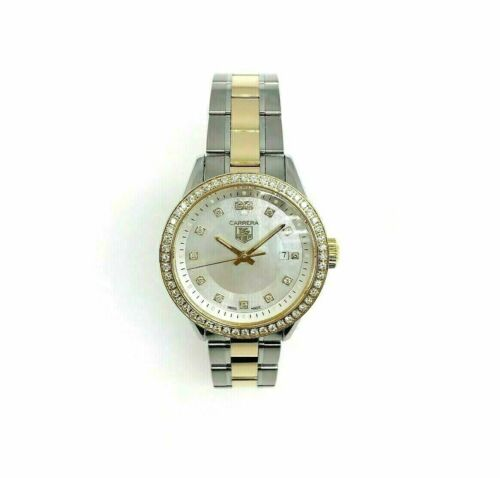 Tag Heuer 29MM Lady Carrera 18K Yellow Steel Watch Factory MOP Dial and Bezel
