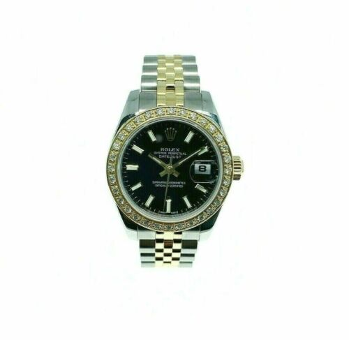 Rolex 26MM Lady Datejust 18 Karat Yellow Gold Steel Watch Ref # 179163