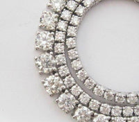10.56 TCW Round Brilliant Cut Diamond Riviera Necklace G VS1-2 18k White Gold