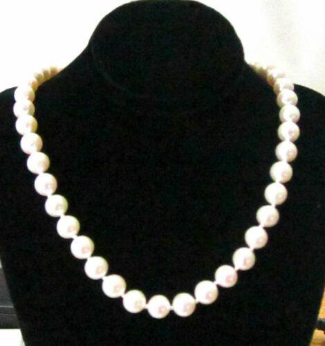 Fine 18 Inch Freshwater String Pearl Necklace 7mm each 14k Yellow Gold 57 total