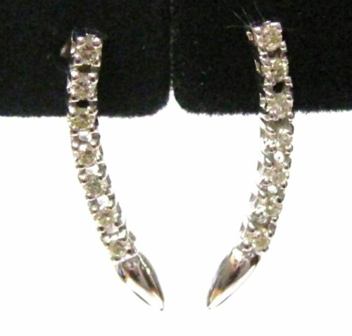 .45 TCW Round Cut Diamond Single Strand Drop/Dangle Earrings H SI-1 14k Gold