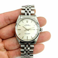 Rolex 36MM Oyster Perpetual Watch Stainless Steel Ref # 1018 Factory Dial 1960