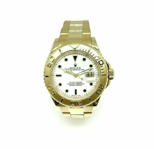 Rolex 40MM Mens Yacht Master Solid 18K Yellow Gold Watch Ref # 16628B A Serial