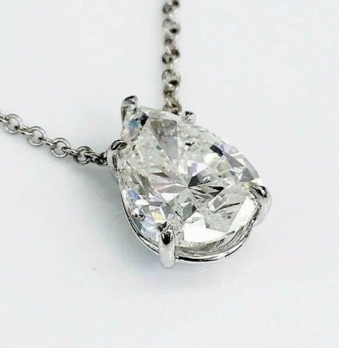 Large and Magnificent 5.03 Carats Diamond Solitaire Pendant F SI2 Diamond EGLUSA
