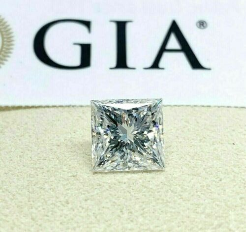 Loose GIA Diamond - Refined 3.01 Carats GIA Princess Cut F VS1 Diamond Ex Ex Cut