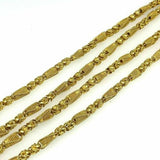 HandMade Solid 18 Karat Yellow Gold Necklace Chain 36 Inches 2.66 Ounces 18K