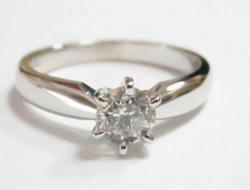 .48Ct Round Brilliant Cut Diamond Solitaire Engagement Ring Size 5.5 G SI-3