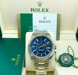 Rolex 42MM Sky Dweller Watch 18K Bezel Stainless Steel Ref 326934 Box Card 2018