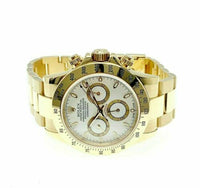 Rolex Daytona 40mm Cosmograph Watch 18K Yellow Gold Ref 116528 K Serial Minty
