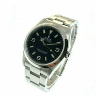 Rolex 39MM Explorer Oyster Watch Stainless Steel Ref #114270 Box Papers D Serial