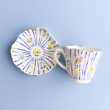 Load image into Gallery viewer, cute and unique handmade pottery ceramic tea ware, coffee cup and saucer