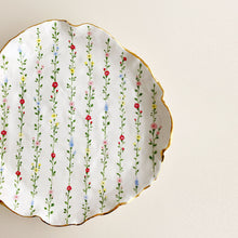 Load image into Gallery viewer, handmade organic shaped floral pottery ceramic plates