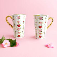 Load image into Gallery viewer, handmade hand-built pottery luxury rose venti mug