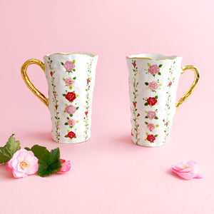 handmade hand-built pottery luxury rose venti mug