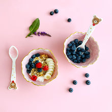 Load image into Gallery viewer, fruit granola and cereal breakfast in the hand-built pottery ceramic bowls