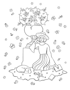 free coloring page of illustration