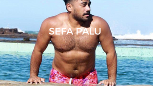 Sefa Palu in Waikiki Tribe Australia Men's Swim Trunks