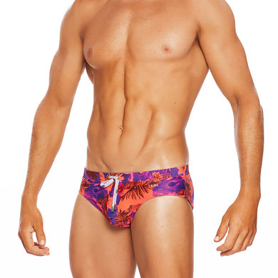 Waikiki - Full Pink Print - LoRise Brief
