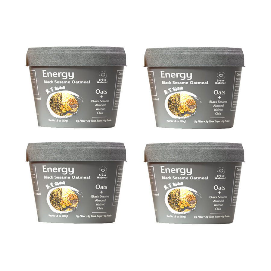 Energy | Black Sesame Oatmeal (4 cups)