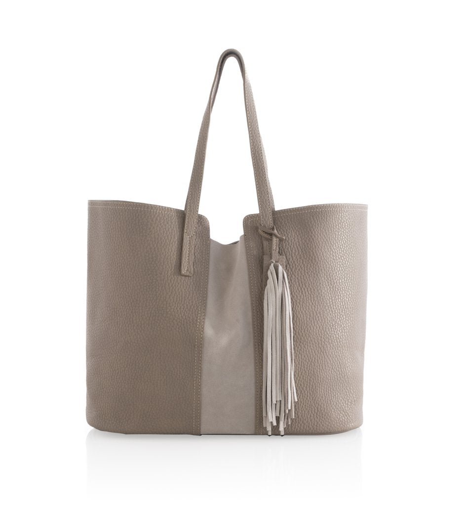 Porter Tote in Tan or Taupe