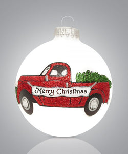 Merry Christmas Truck Ornament