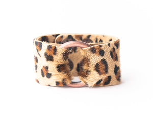 Leopard Leather Cuff - 2 sizes