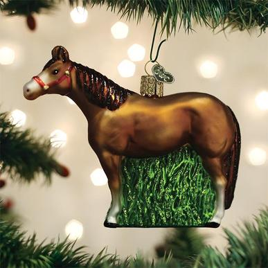 Quarter Horse Glass Ornament