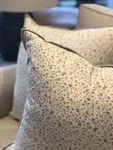"Load image into Gallery viewer, 22"" Juniper Taupe Throw Pillow with Flange"