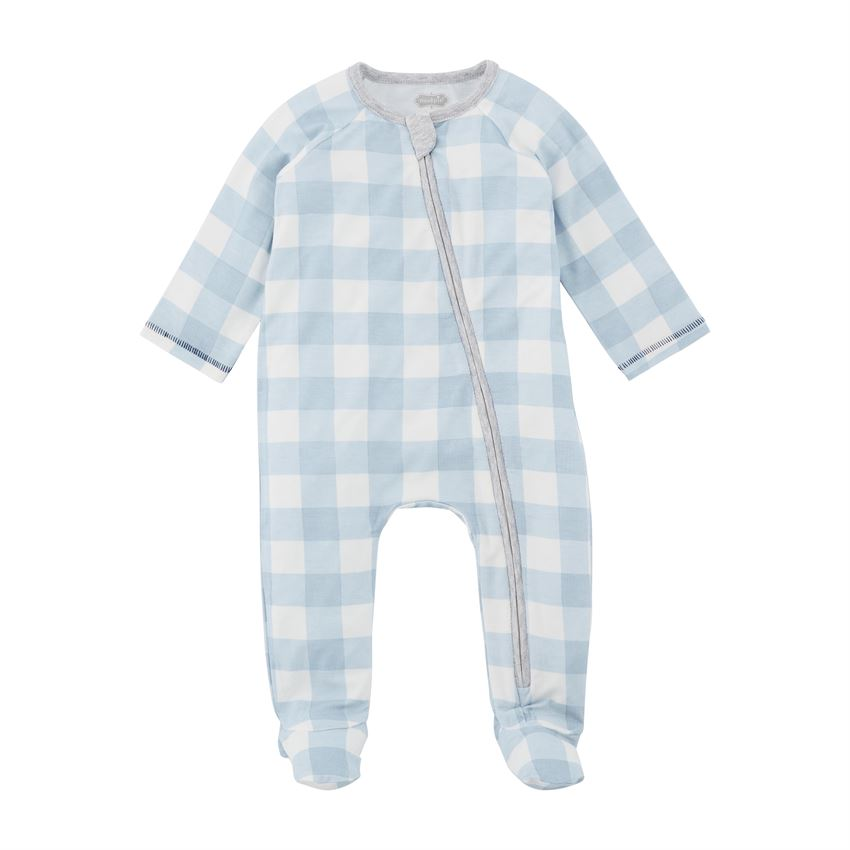 Blue Check Sleeper, 3-6M