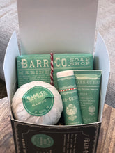 Load image into Gallery viewer, 4 Piece Essentials Kit from Barr & Co in Marine, Honeysuckle & Sugar & Cream