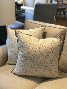 "22"" Juniper Taupe Throw Pillow with Flange"