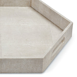 Grey Shagreen Hex Tray