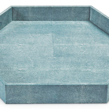 Load image into Gallery viewer, Turquoise Shagreen Hex Tray