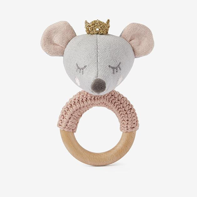 Princess Mouse & Luna Unicorn Knit Baby Ring Rattles