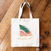 Load image into Gallery viewer, Christmas Sleigh - Canvas Tote Bag