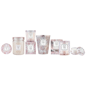 Voluspa Rose Colored Glass Collection - 4 Candle Options