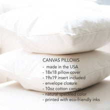 Load image into Gallery viewer, Warm Drinks Pillow - Cotton Canvas Pillow