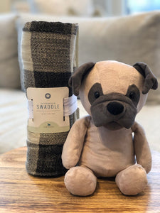 Pablo The Pug & Swaddle Blanket
